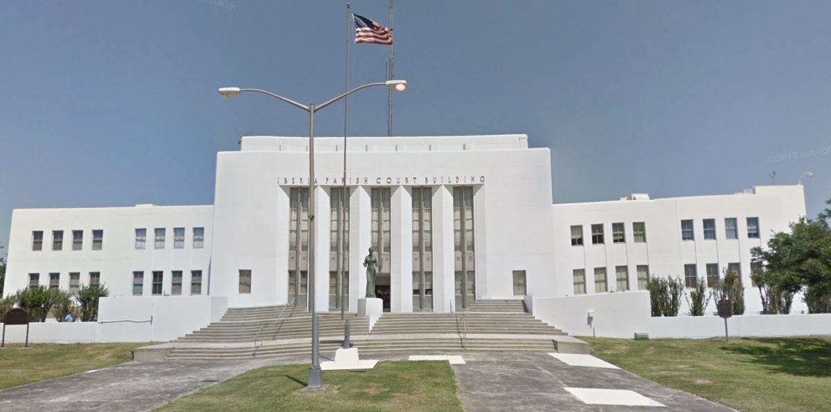 iberia parish courthouse in new iberia, louisiana